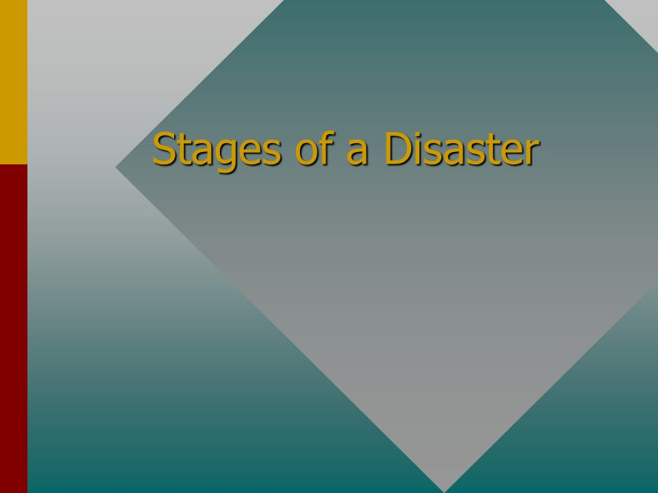 Stages of a Disaster