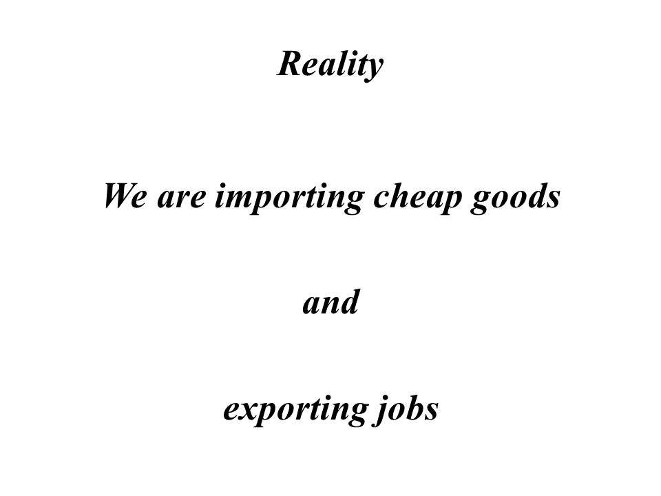 Myth We just cant compete so we are better off importing cheap goods including food