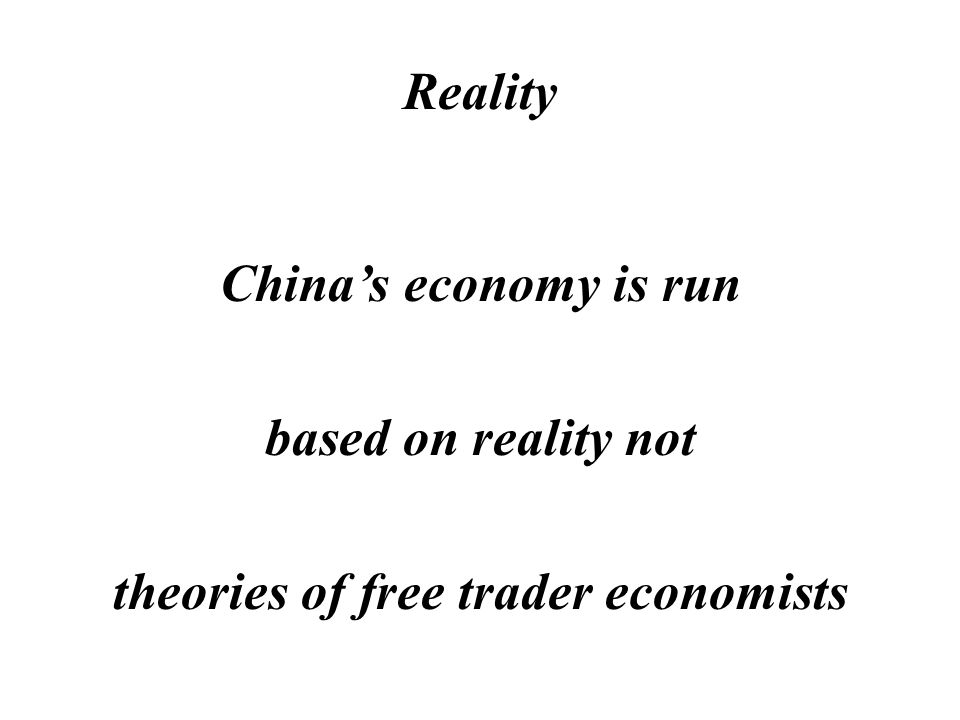 Reality Chinas economic planning is done by engineers and technically trained personnel