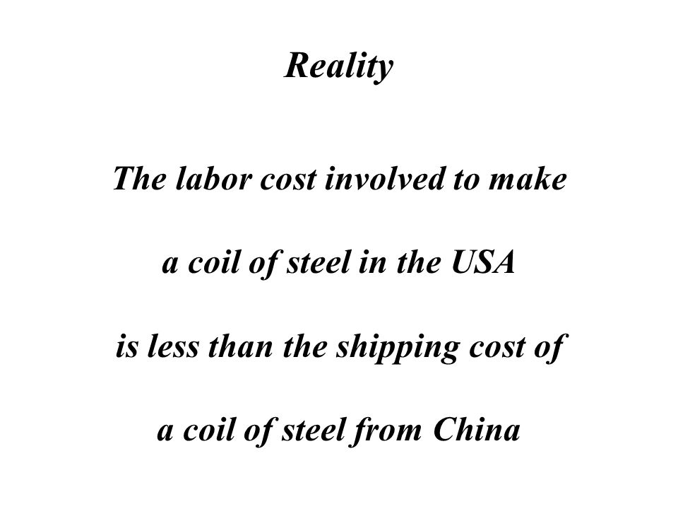 Myth The USA is losing jobs to China because labor costs there are so cheap