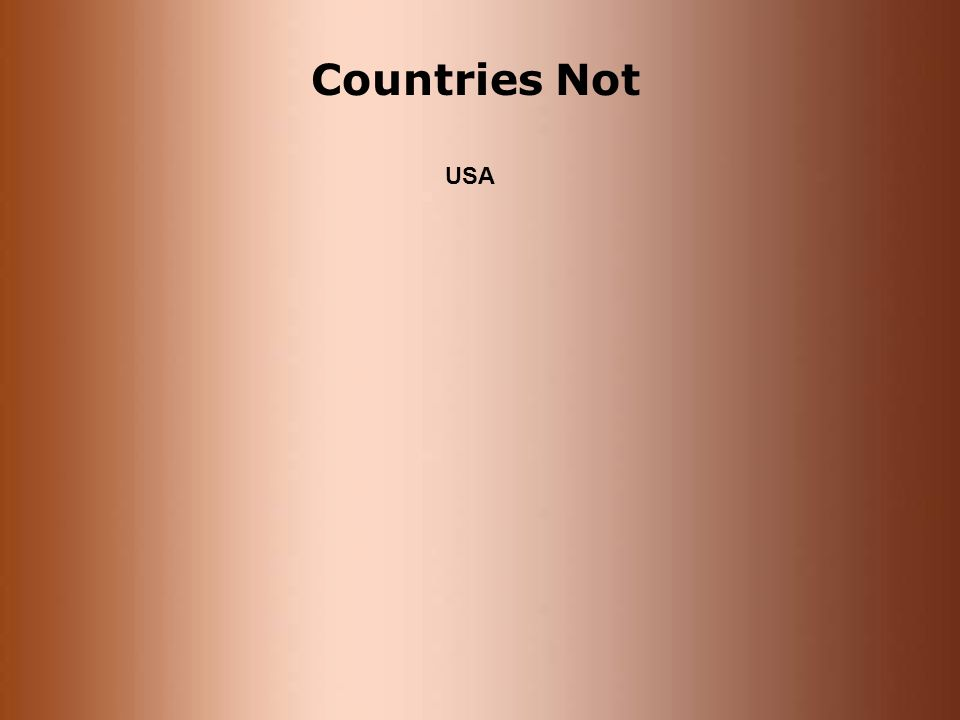Countries Not USA