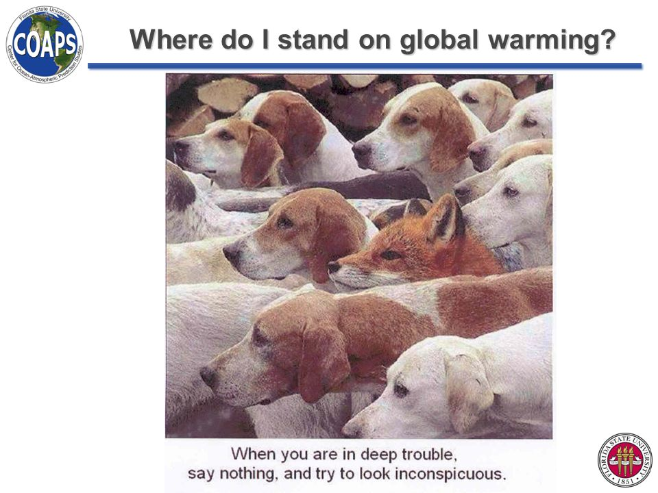 Where do I stand on global warming