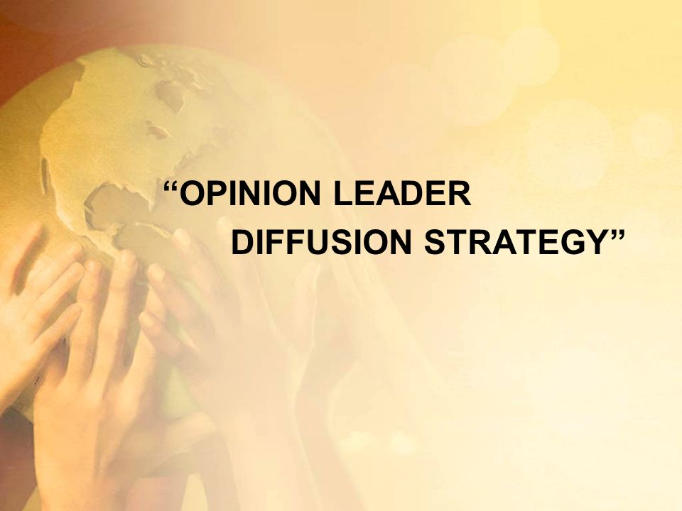 OPINION LEADER DIFFUSION STRATEGY
