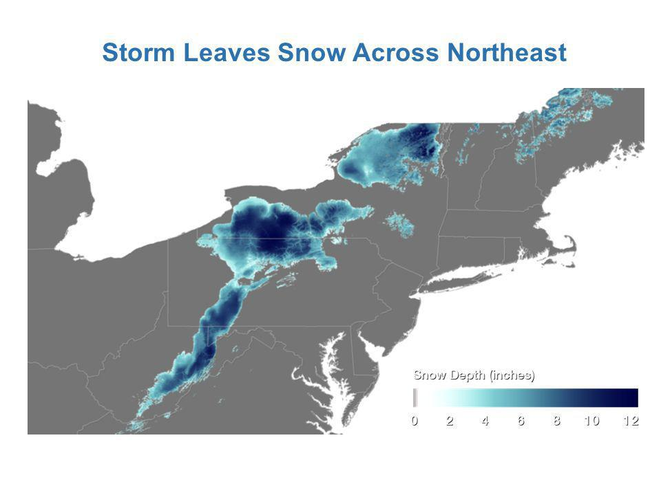 Storm Leaves Snow Across Northeast