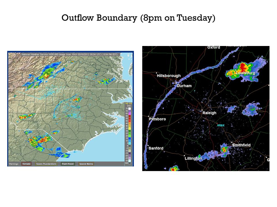Outflow Boundary (8pm on Tuesday)
