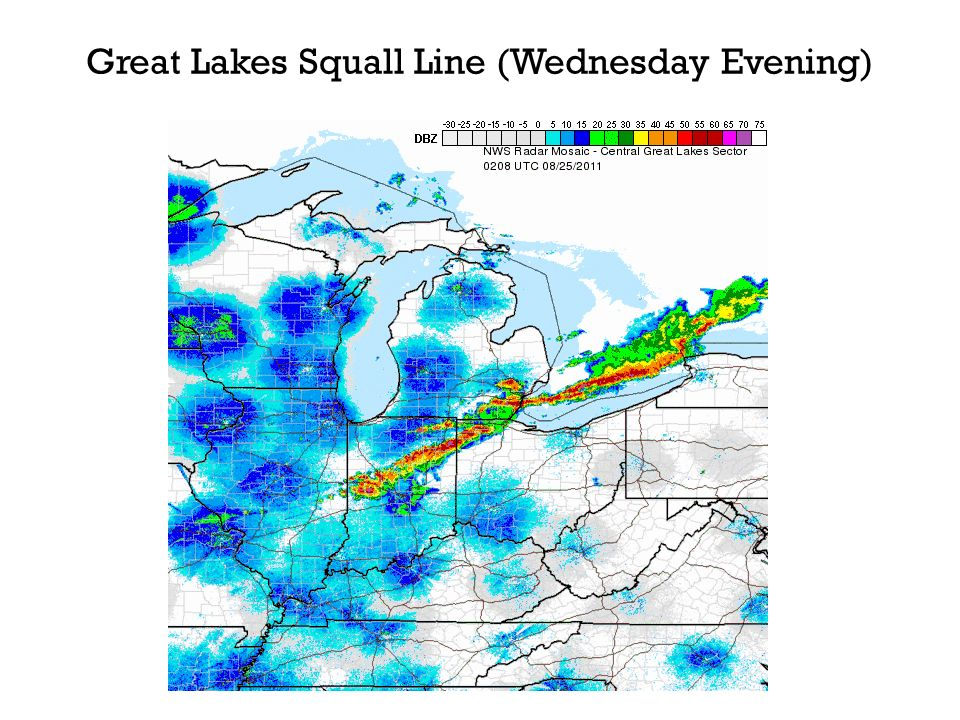 Great Lakes Squall Line (Wednesday Evening)