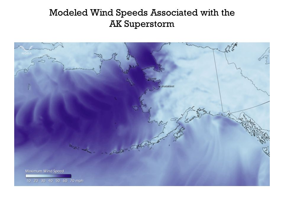 Modeled Wind Speeds Associated with the AK Superstorm