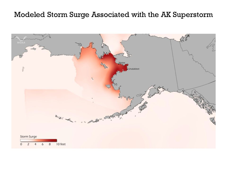 Modeled Storm Surge Associated with the AK Superstorm