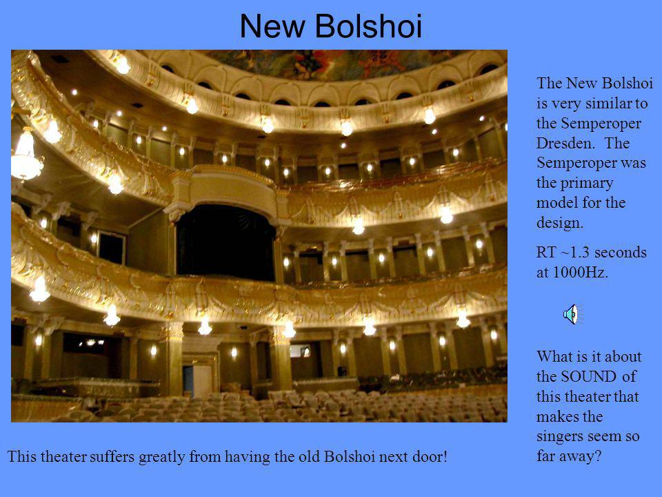 New Bolshoi The New Bolshoi is very similar to the Semperoper Dresden.