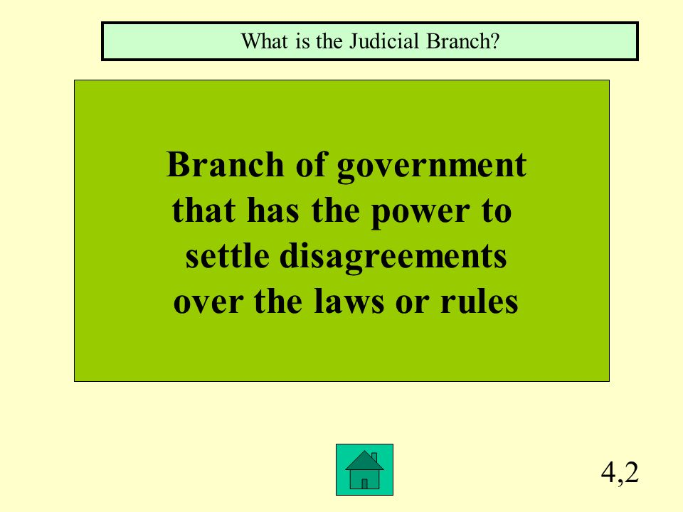 3,2 Branch of government that has the power to carry out and enforce the laws and rules What is the Executive Branch