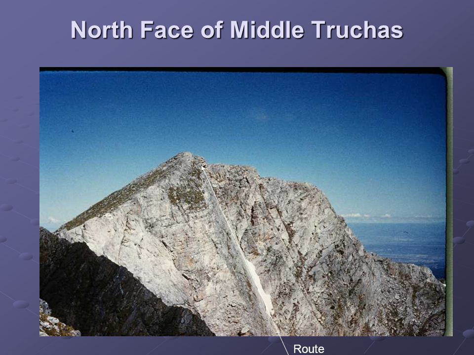 North Face of Middle Truchas Route