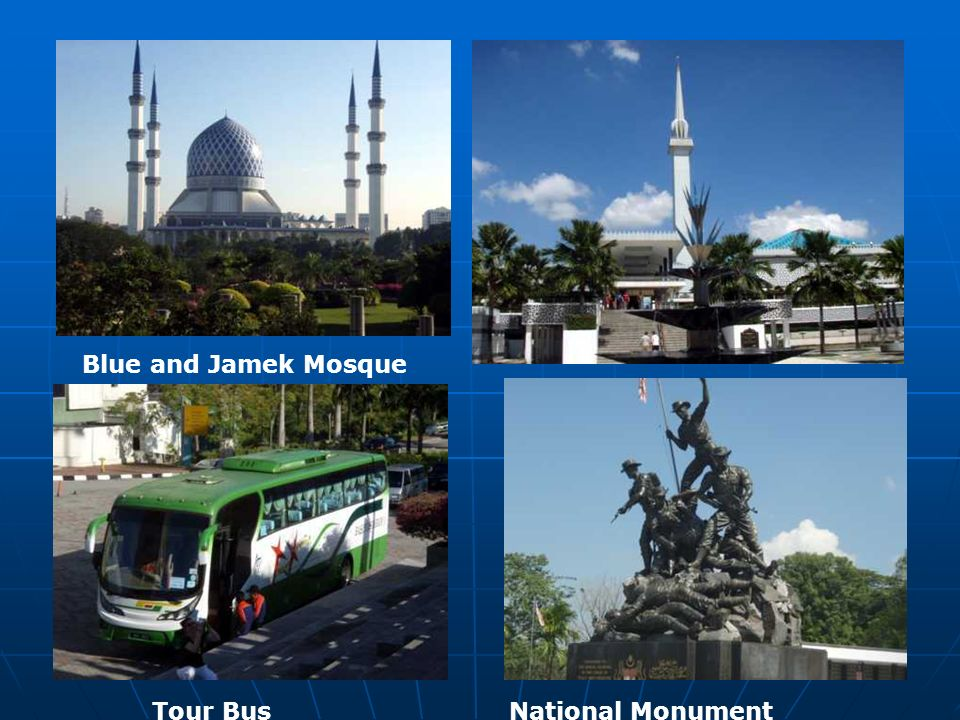 Blue and Jamek Mosque Tour Bus National Monument