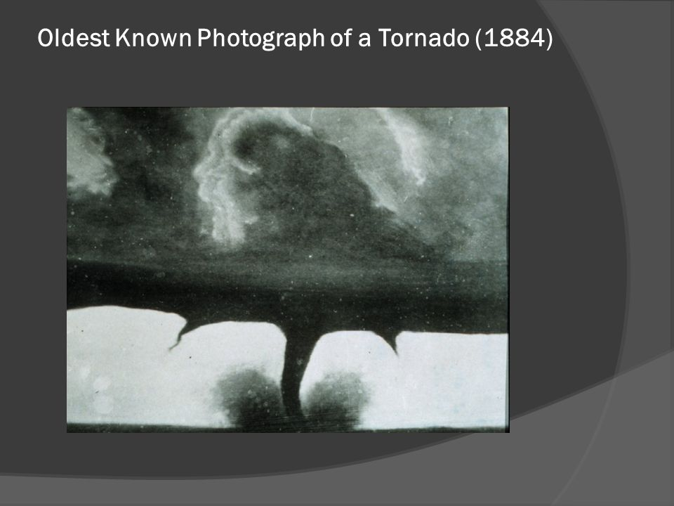 Oldest Known Photograph of a Tornado (1884)