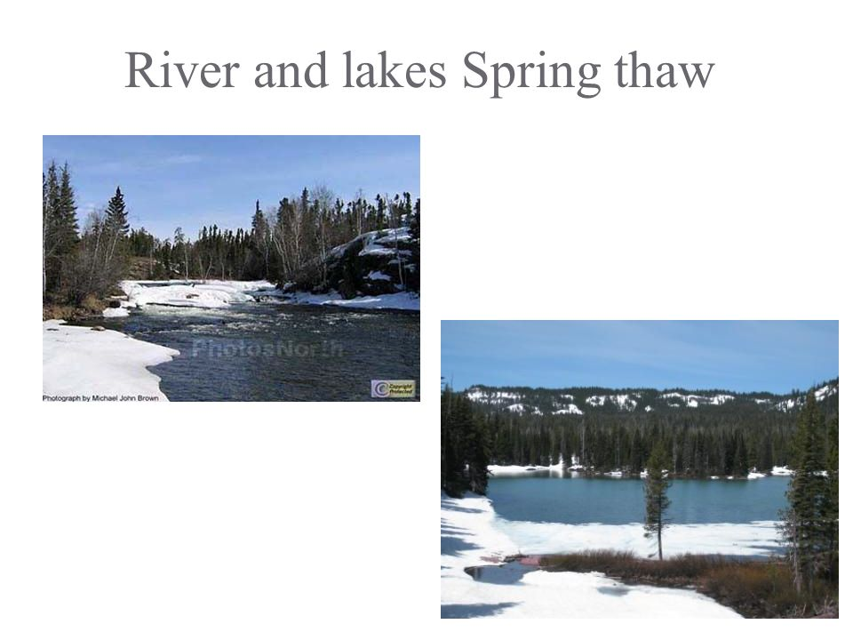 River and lakes Spring thaw