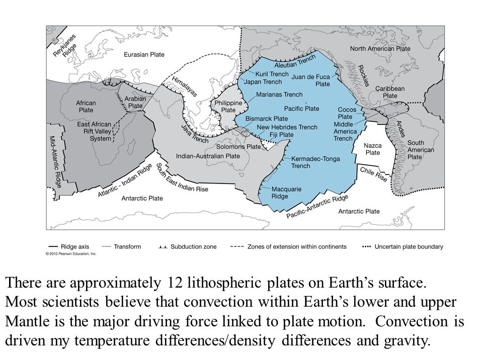 There are approximately 12 lithospheric plates on Earths surface.