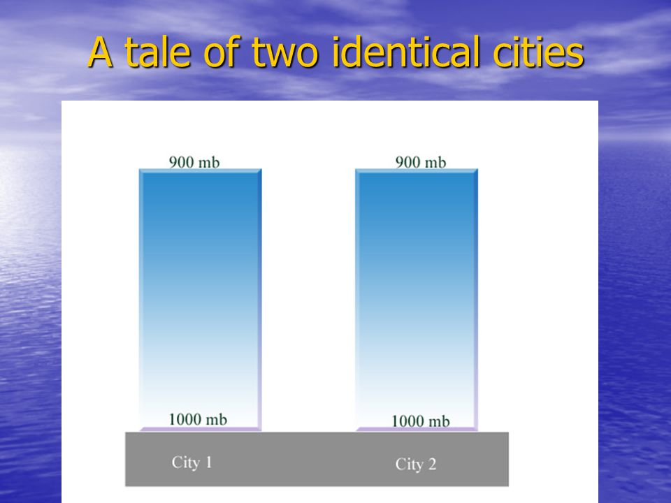 A tale of two identical cities