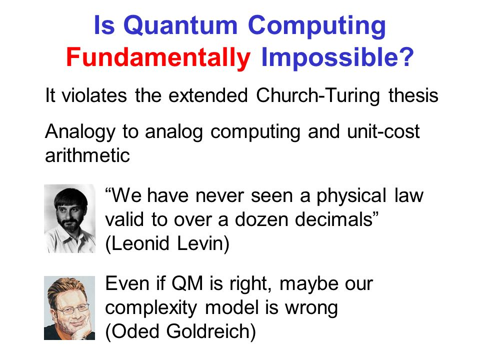 Is Quantum Computing Fundamentally Impossible.