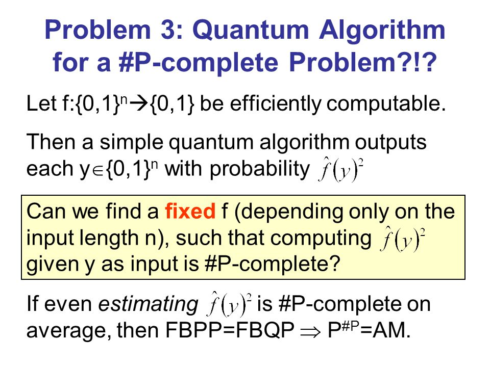 Can we find a fixed f (depending only on the input length n), such that computing given y as input is #P-complete.