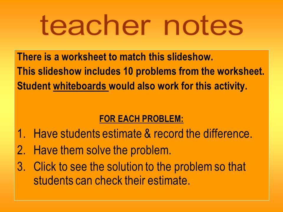 There is a worksheet to match this slideshow.