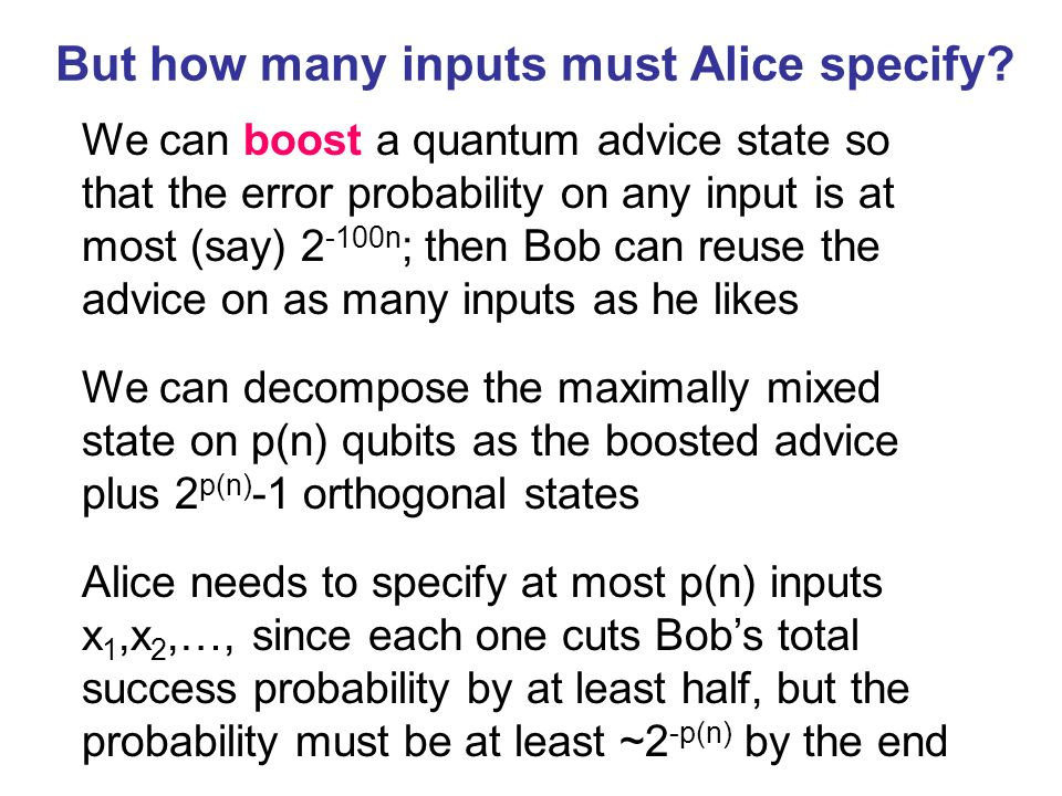 But how many inputs must Alice specify.