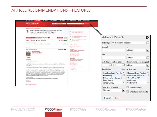 ARTICLE RECOMMENDATIONS – FEATURES