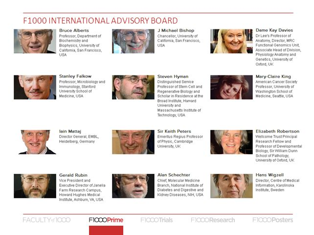 F1000 INTERNATIONAL ADVISORY BOARD