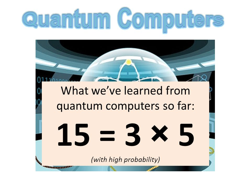 What weve learned from quantum computers so far: 15 = 3 × 5 (with high probability)
