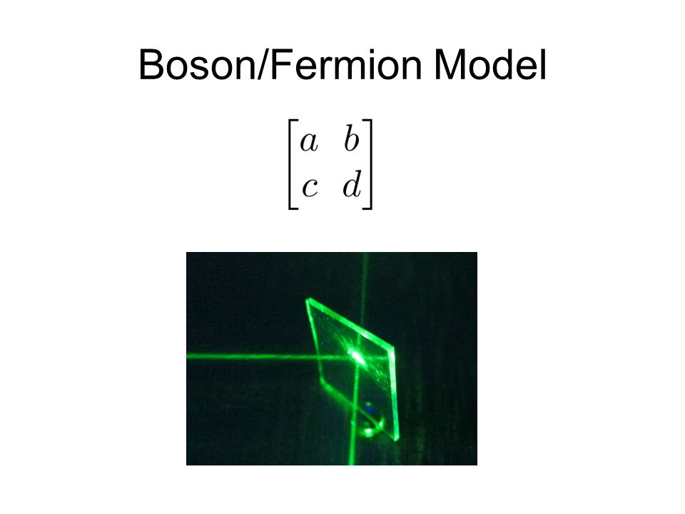 Boson/Fermion Model
