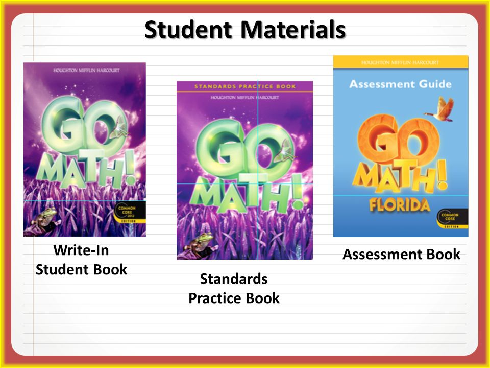 Write-In Student Book Standards Practice Book Student Materials Assessment Book