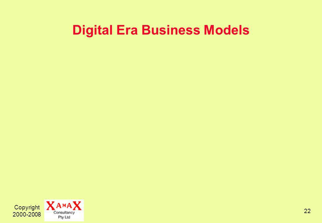 Copyright Digital Era Business Models