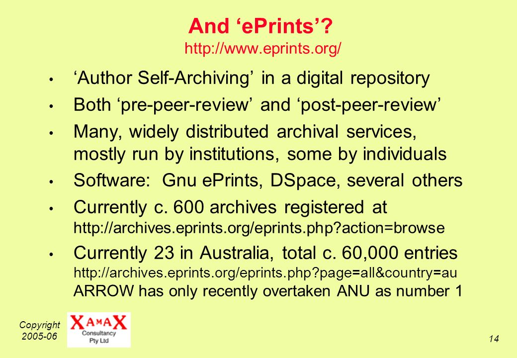 Copyright 2005-06 14 And ePrints.