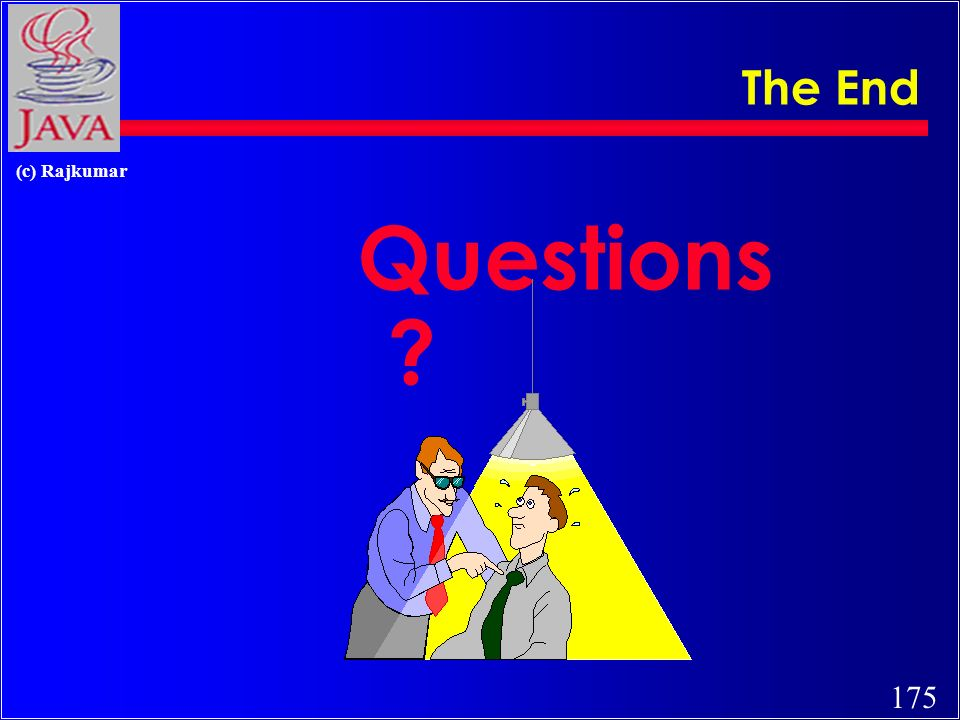 175 (c) Rajkumar The End Questions