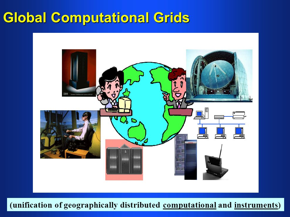 Global Computational Grids (unification of geographically distributed computational and instruments)