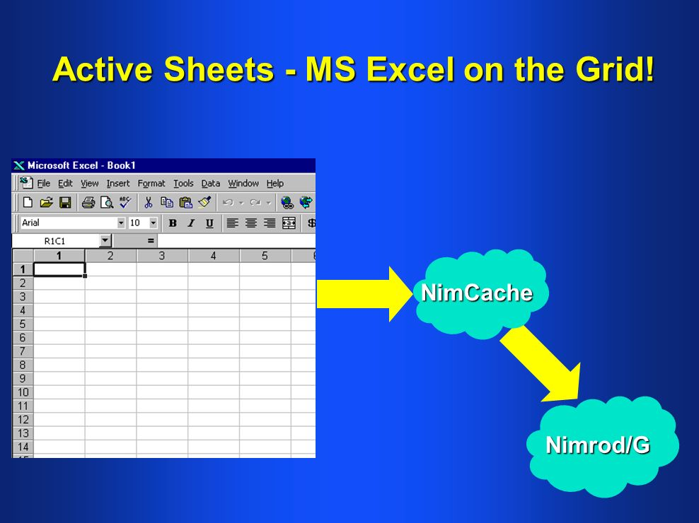 Active Sheets - MS Excel on the Grid! NimCache Nimrod/G