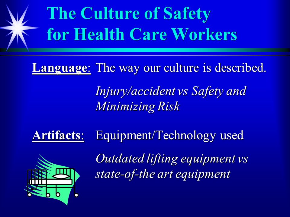 The Culture of Safety for Health Care Workers Language:The way our culture is described.