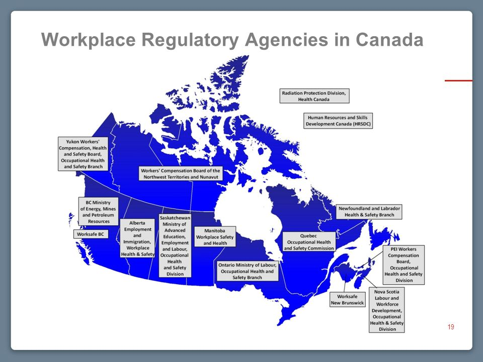 Workplace Regulatory Agencies in Canada 19
