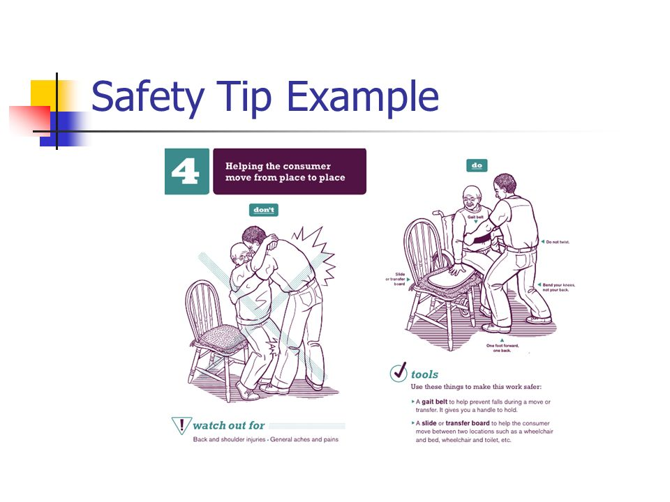 Safety Tip Example