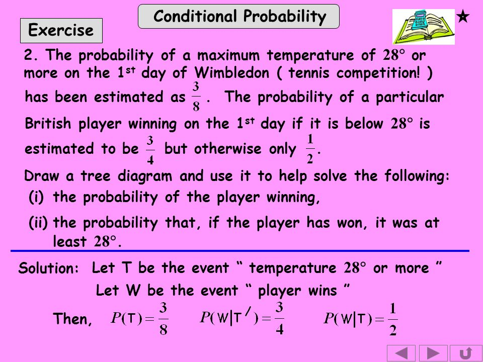 Conditional Probability Exercise 2.