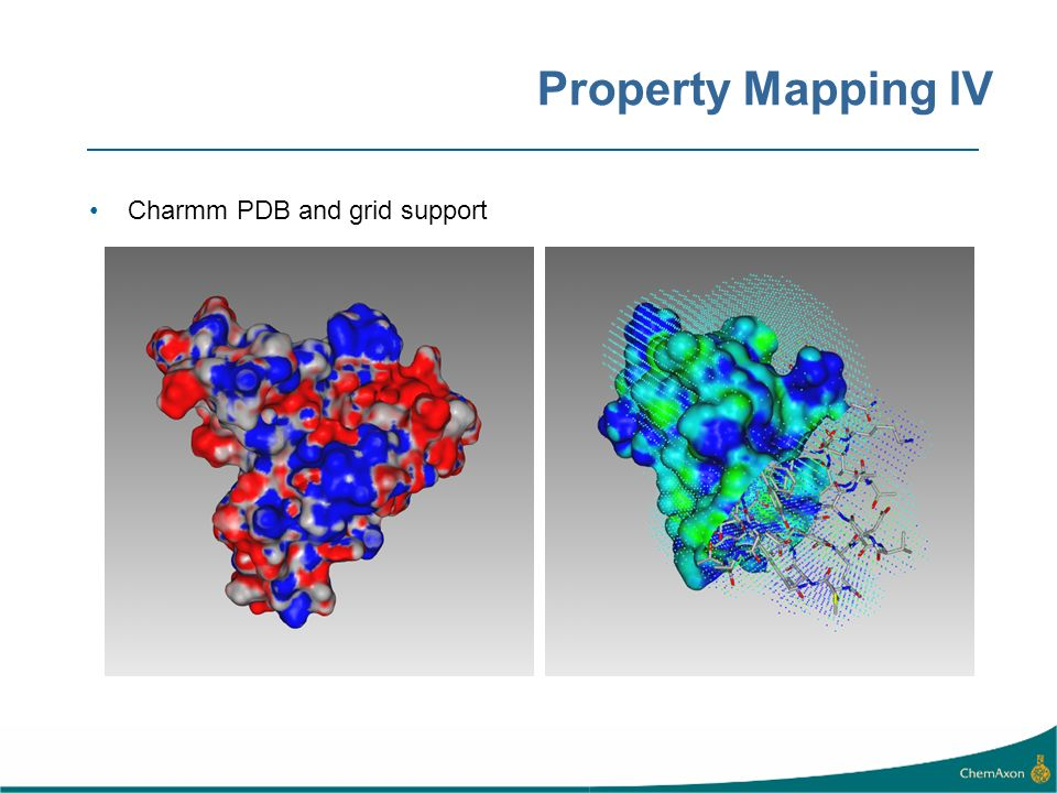 Property Mapping IV Charmm PDB and grid support