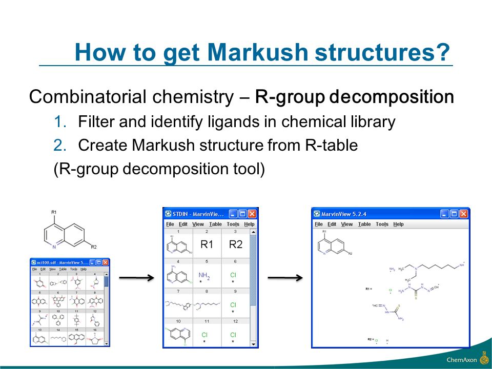 How to get Markush structures.