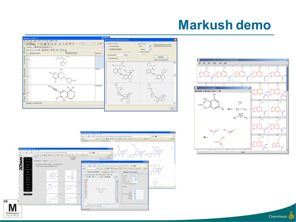 Markush demo