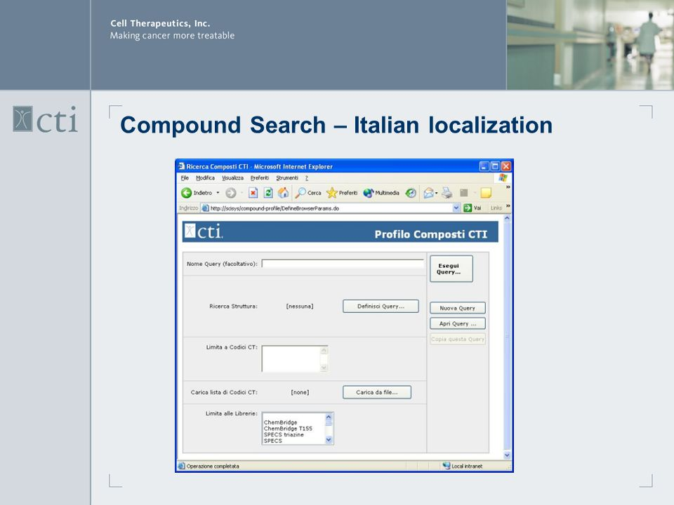 Compound Search – Italian localization