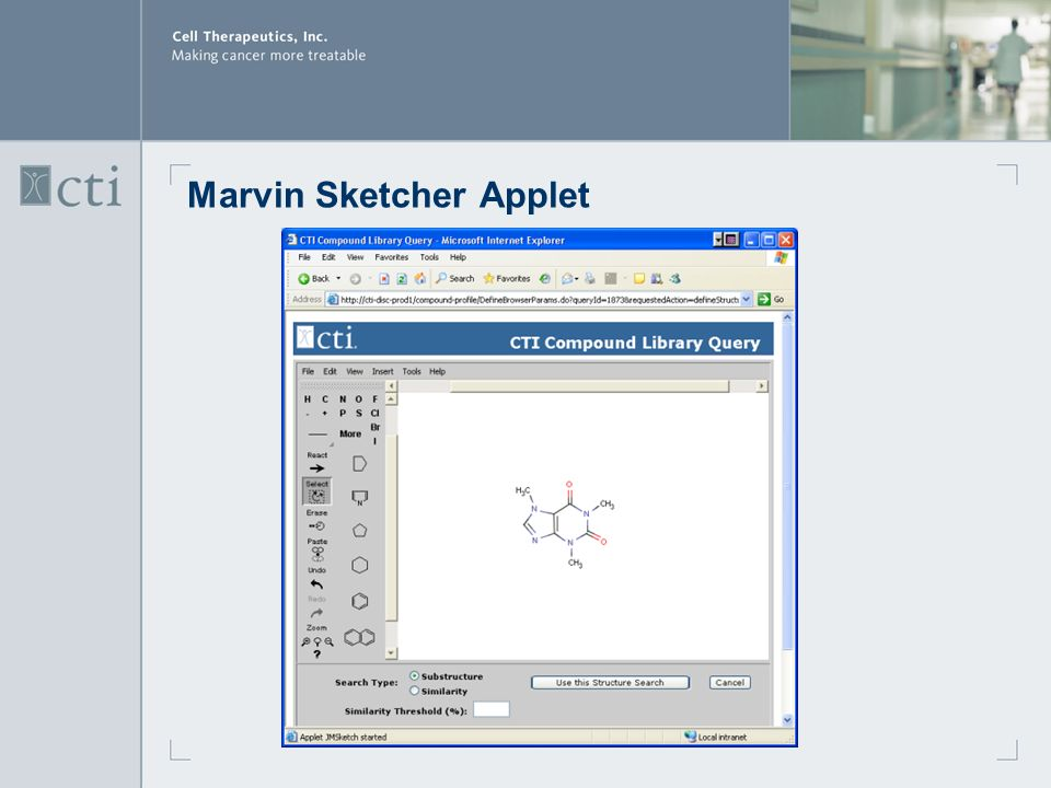 Marvin Sketcher Applet