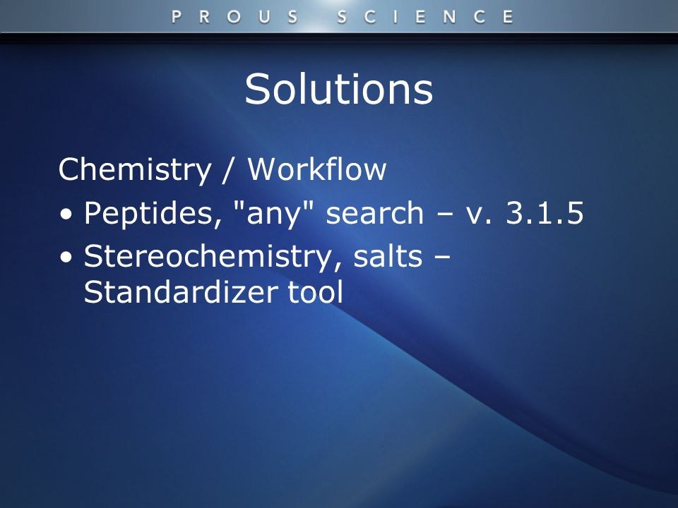 Solutions Chemistry / Workflow Peptides, any search – v.