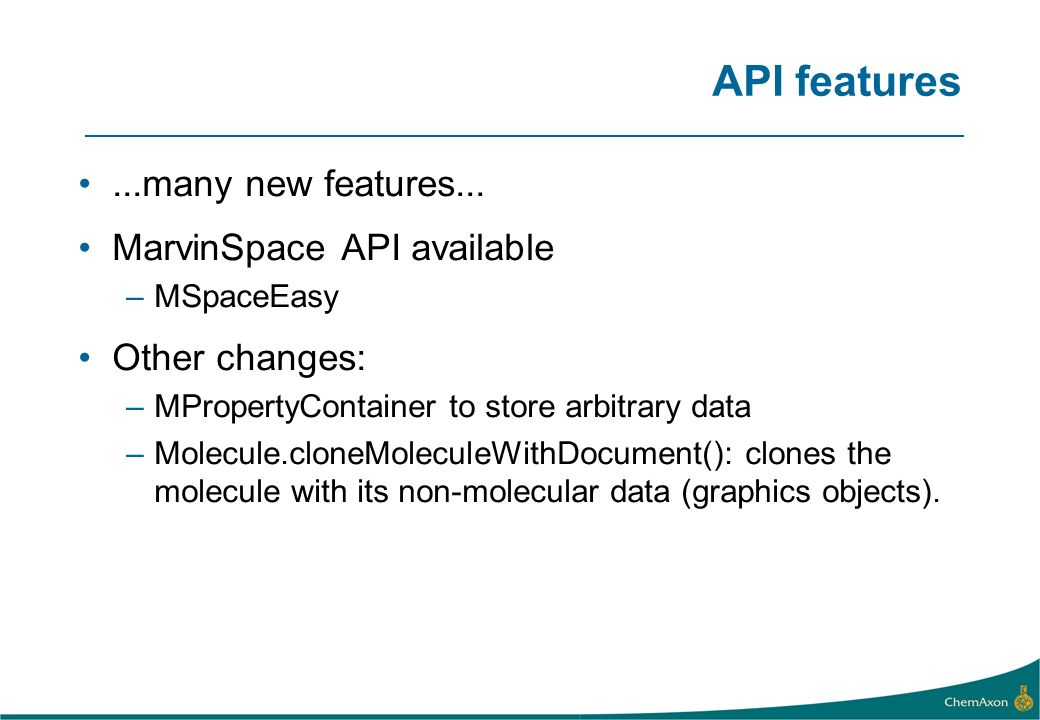 API features...many new features...