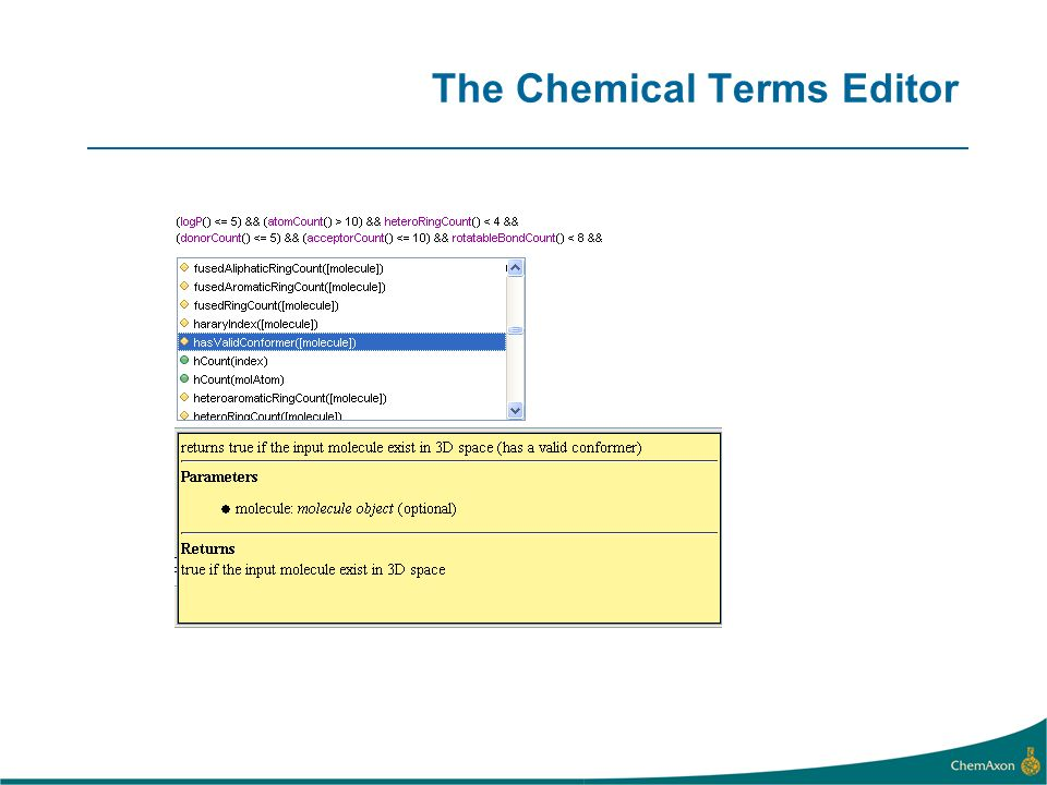 The Chemical Terms Editor