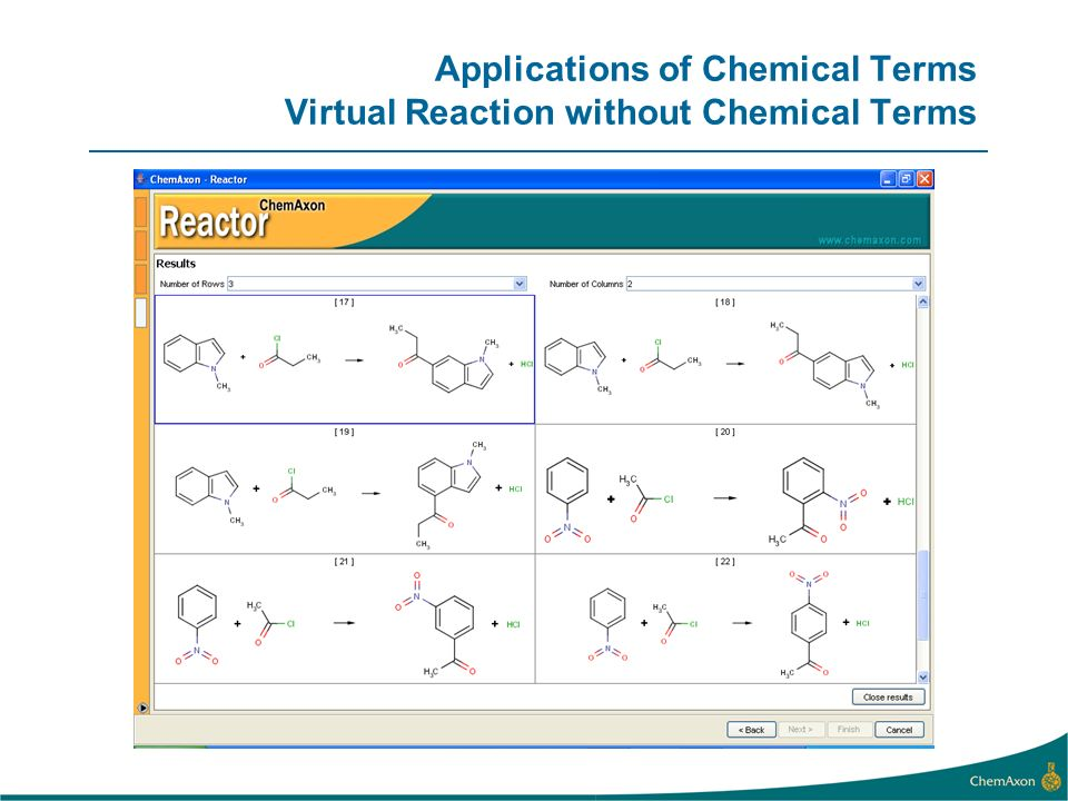 Applications of Chemical Terms Virtual Reaction without Chemical Terms