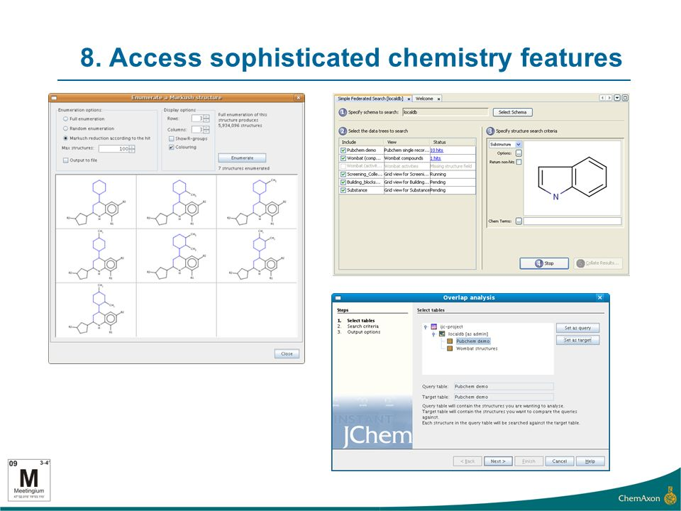8. Access sophisticated chemistry features