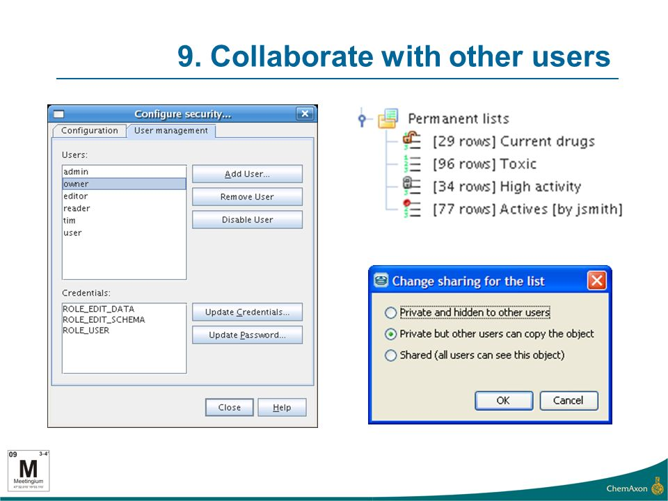 9. Collaborate with other users