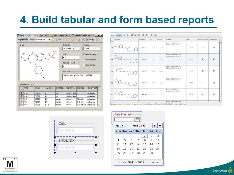 4. Build tabular and form based reports